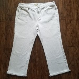 Michael Kors White Capris Pants Size 12